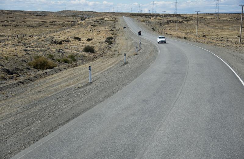 Estrada entre Calafate e Esperanza