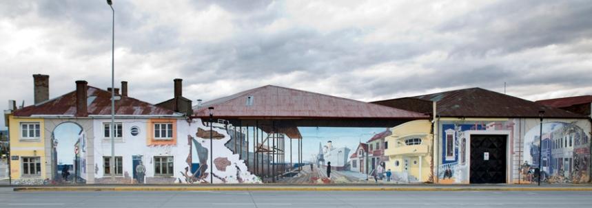 Mural na rua do porto