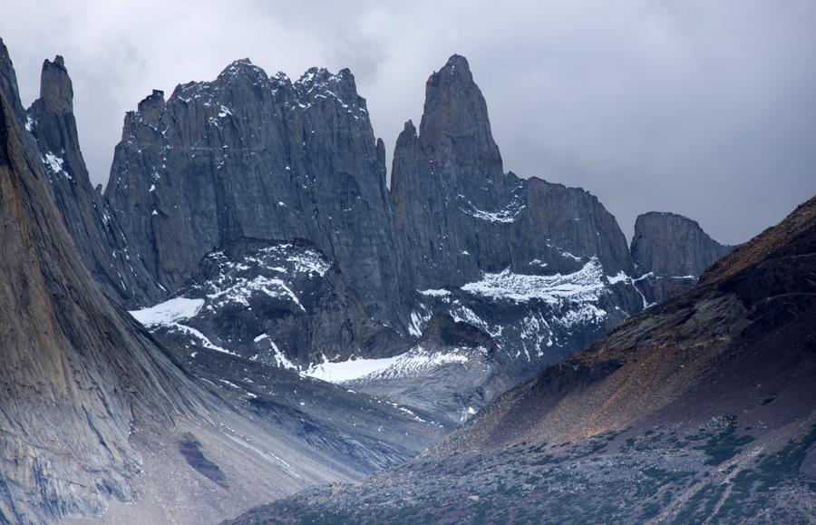 Os picos das Torres del Paine
