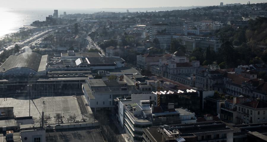Vista dos monumentos na zona de Belém