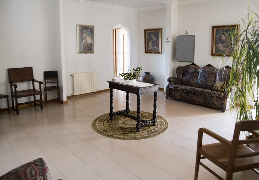 Área comum na casa do convento