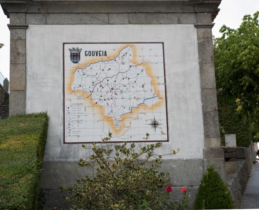 Mapa do concelho de Gouveia