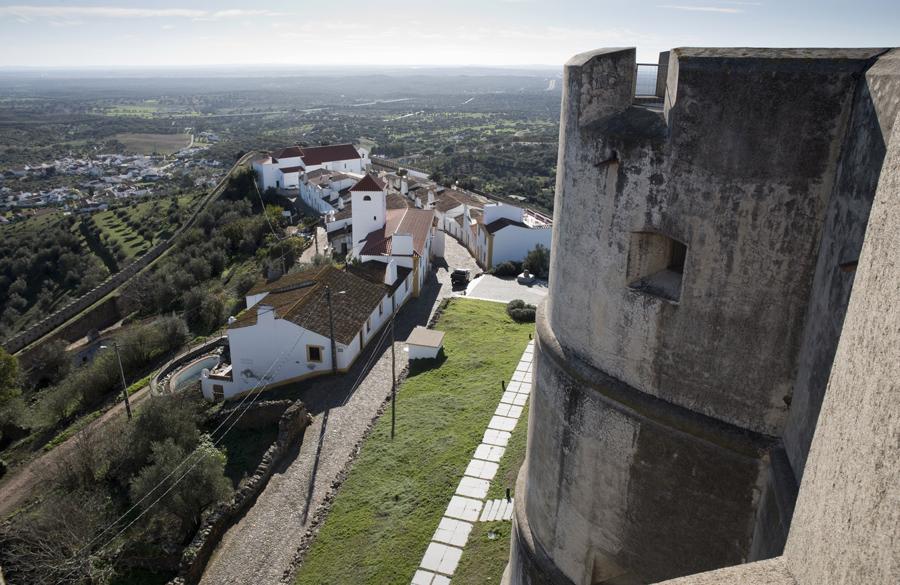 Vista do alto do castelo