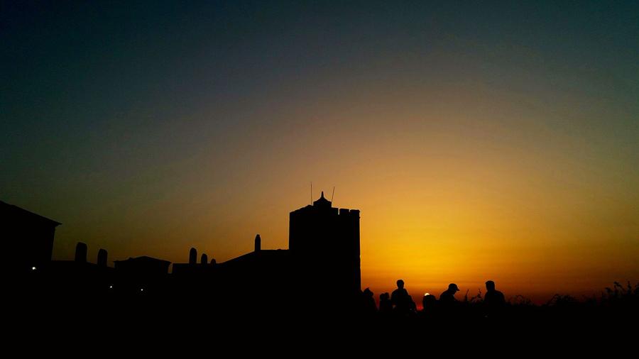 Pôr do sol no Castelo de Palmela