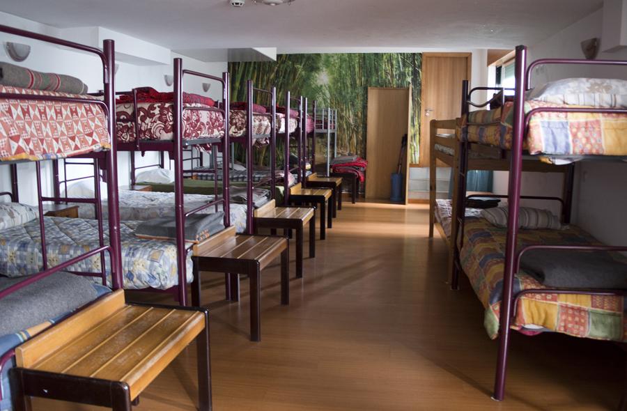Interior do albergue