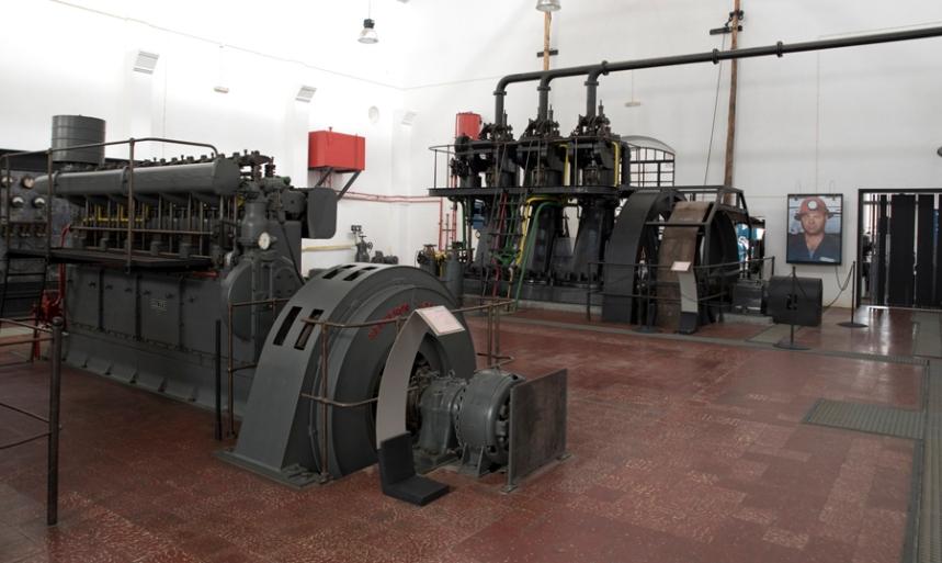 Muitas máquinas estão no local de origem e o espaço foi transformado em Museu