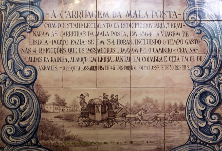 Mosaico numa das salas da Malaposta