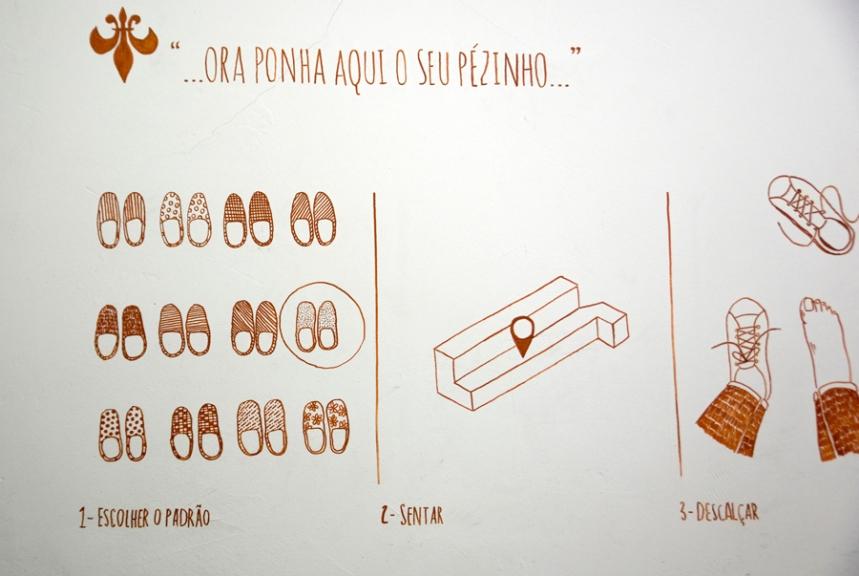 Informação numa das paredes