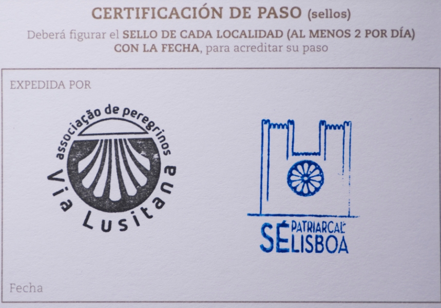 Credencial com carimbo na Sé Catedral de Lisboa