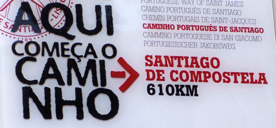 Placa na igreja de Santiago de Lisboa
