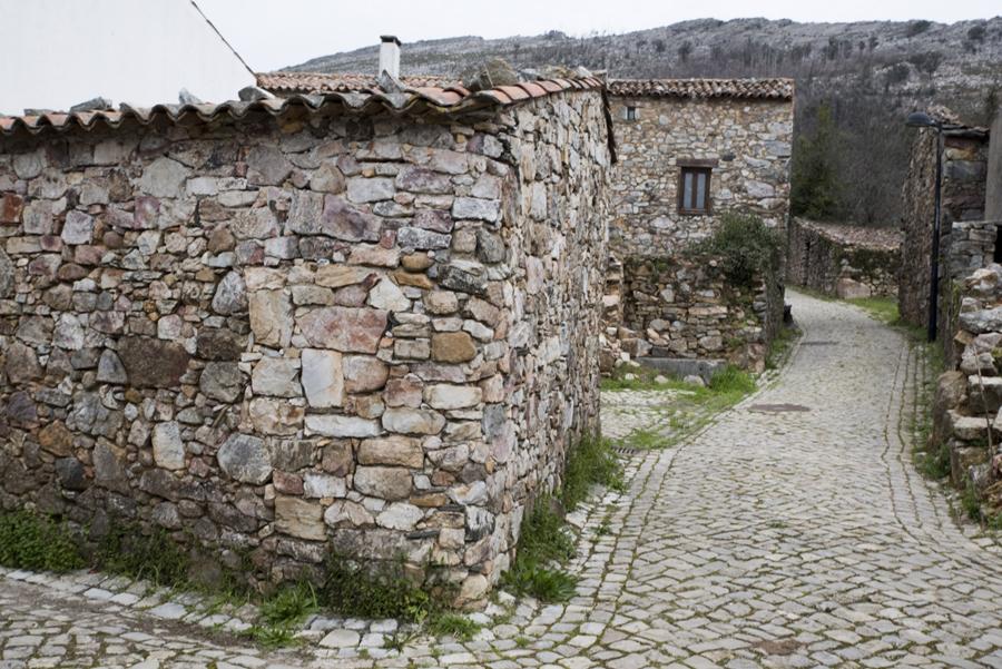 Casas na rua principal
