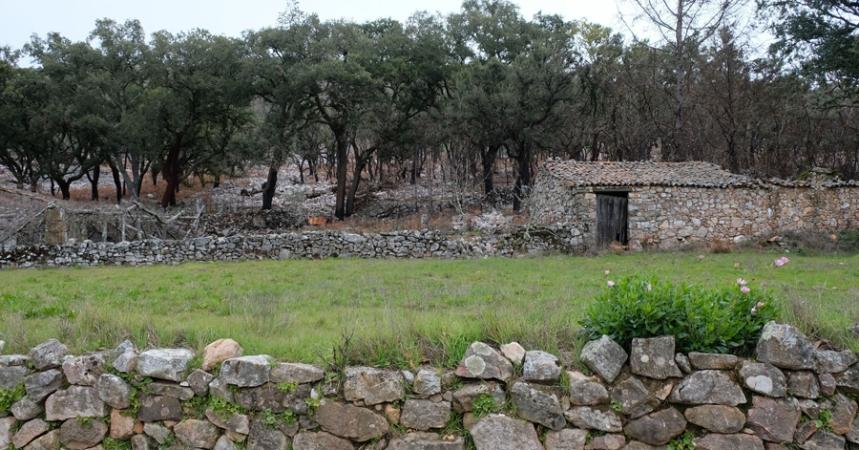 Pedras da crista são utilizadas na construção e marcação de caminhos