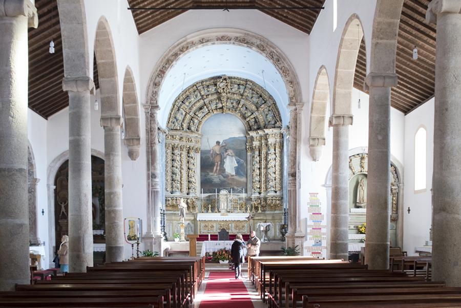 O altar com o