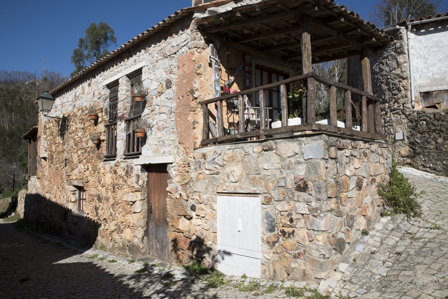 Muitas casas mantêm a traça original