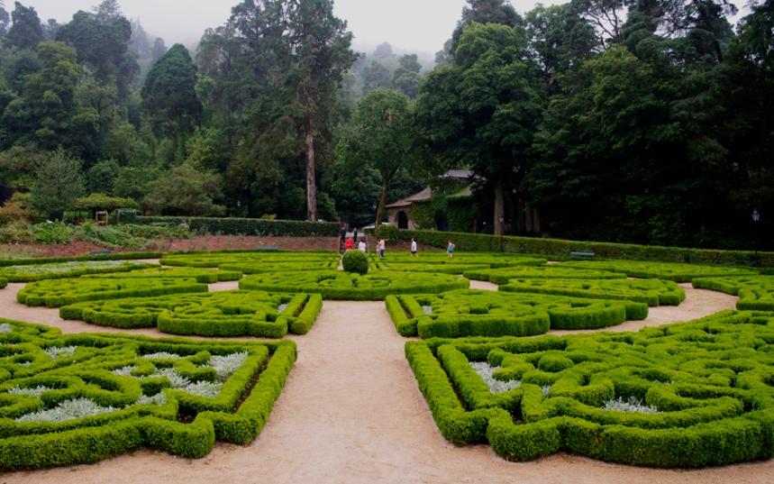 Jardim na zona central