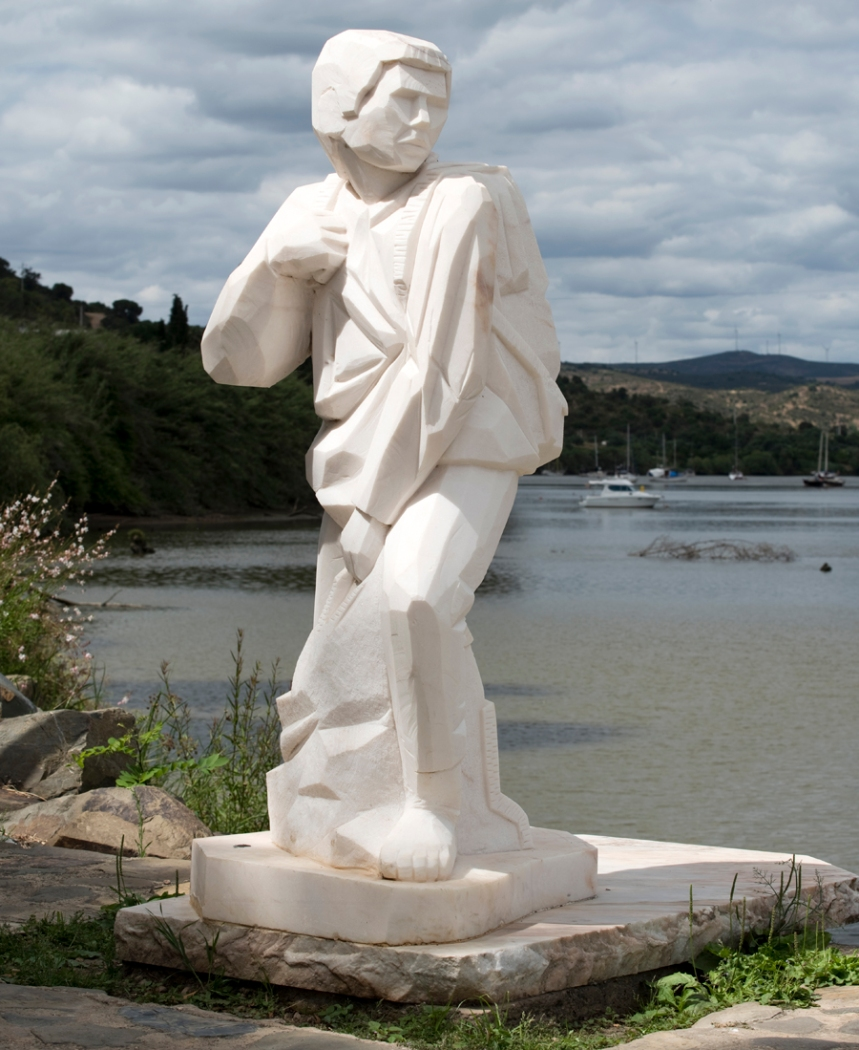 Estátua do contrabandista em Alcoutim