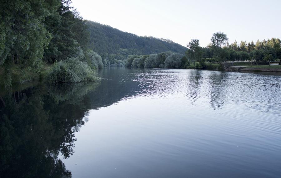 O Zêzere antes da queda de água
