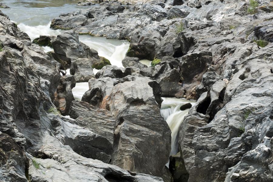 O inicio das quedas de água