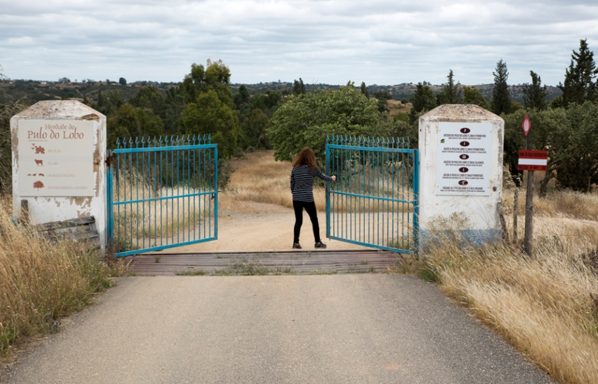 Portão na Herdade Pulo do Lobo