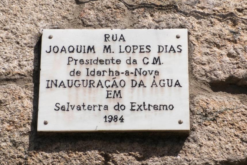 Inauguração da água em Salvaterra do Extremo em 1984