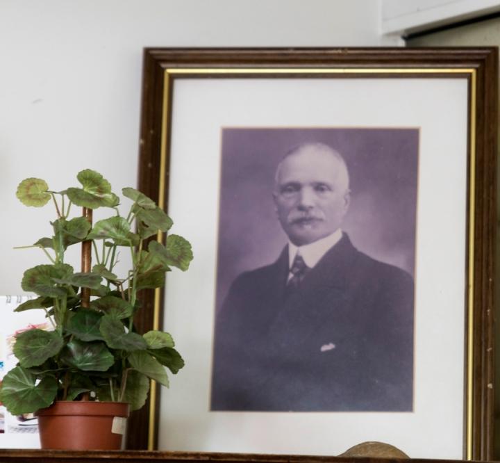 Homenagem ao fundador da Confeitaria