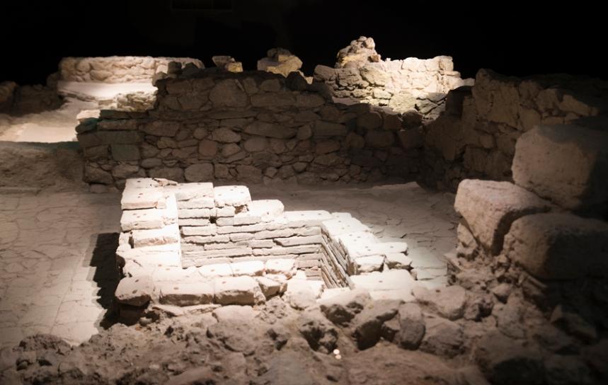 Construções na cripta