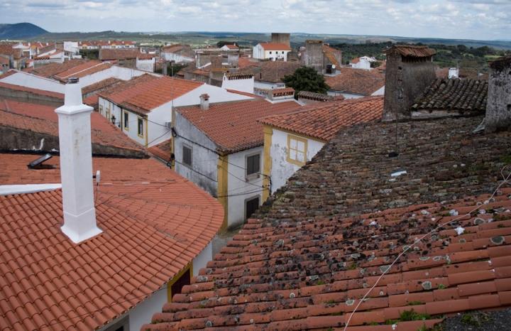 Vista do casario a partir da Porta da Vila
