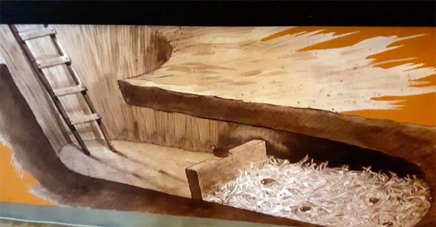 Desenho da cripta