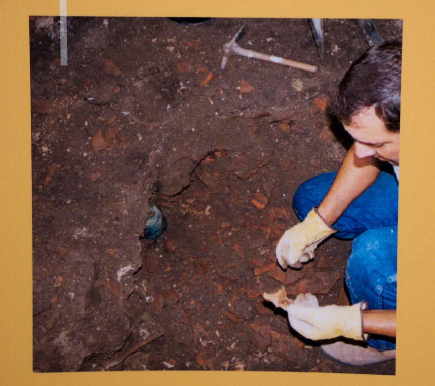 A descoberta no decorrer do trabalho arqueológico