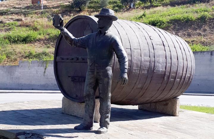 Homenagem à produção vinicola