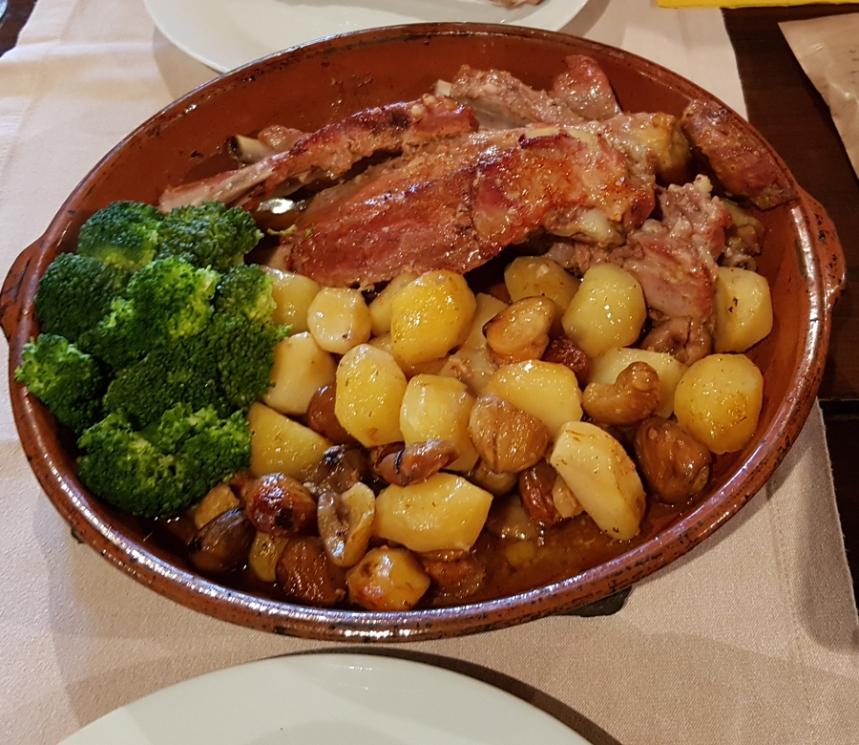 Entrecosto no restaurante do Candal, serra da Lousã