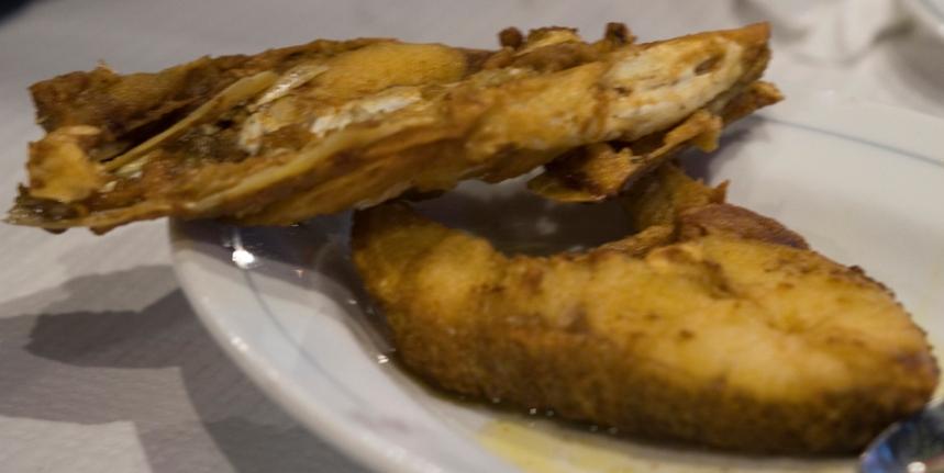Peixe frito em Dornes