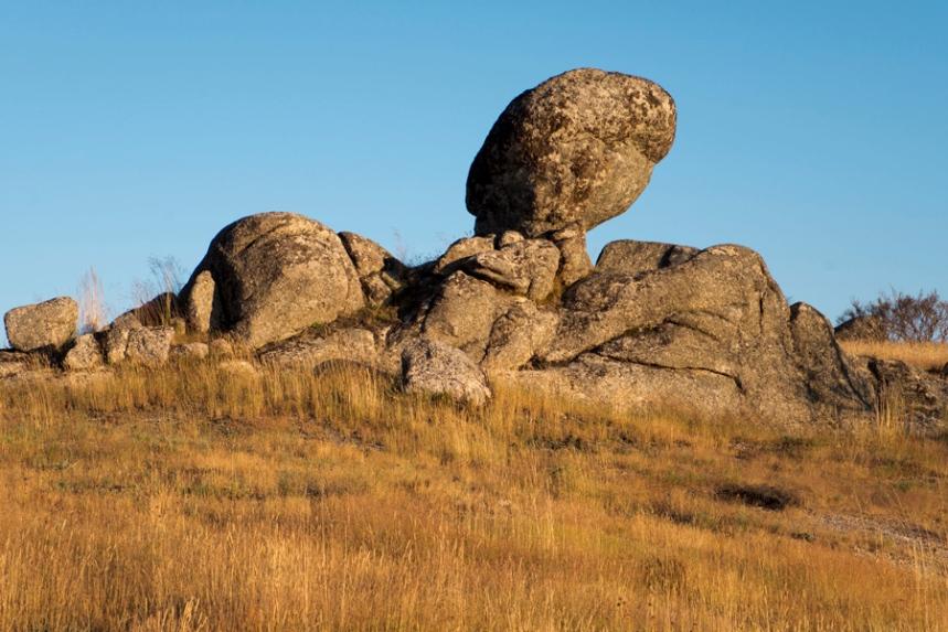 Zona rochosa no alto da serra