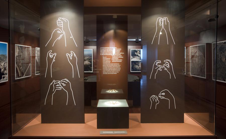 O gesto é o eixo da exposição permanente