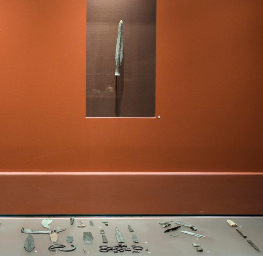 Objectos de um esconderijo de fundidores