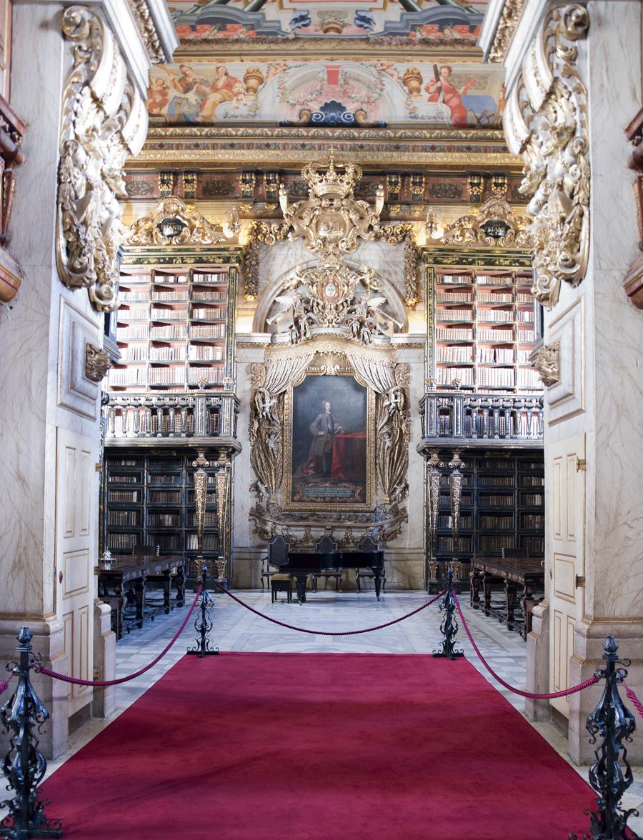 Vista para a última sala com a pintura de D. João V