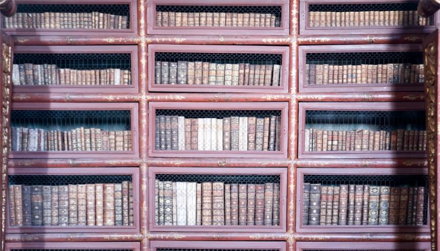 A biblioteca tem 60 mil volumes