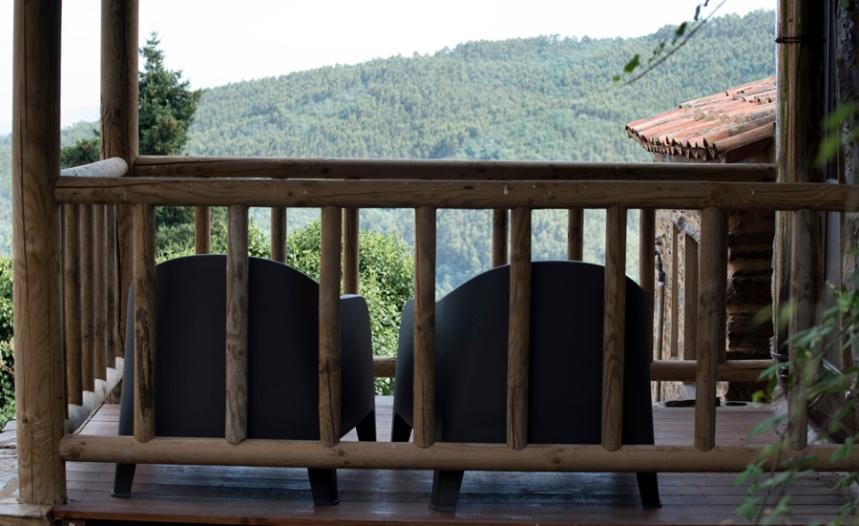 Uma varanda privativa para a serra