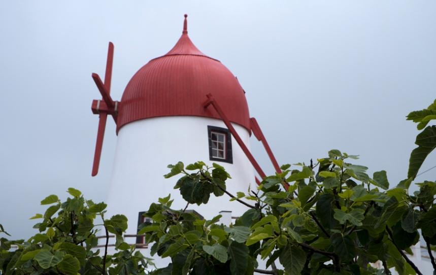 O Museu tem o moinho com a engrenagem de madeira