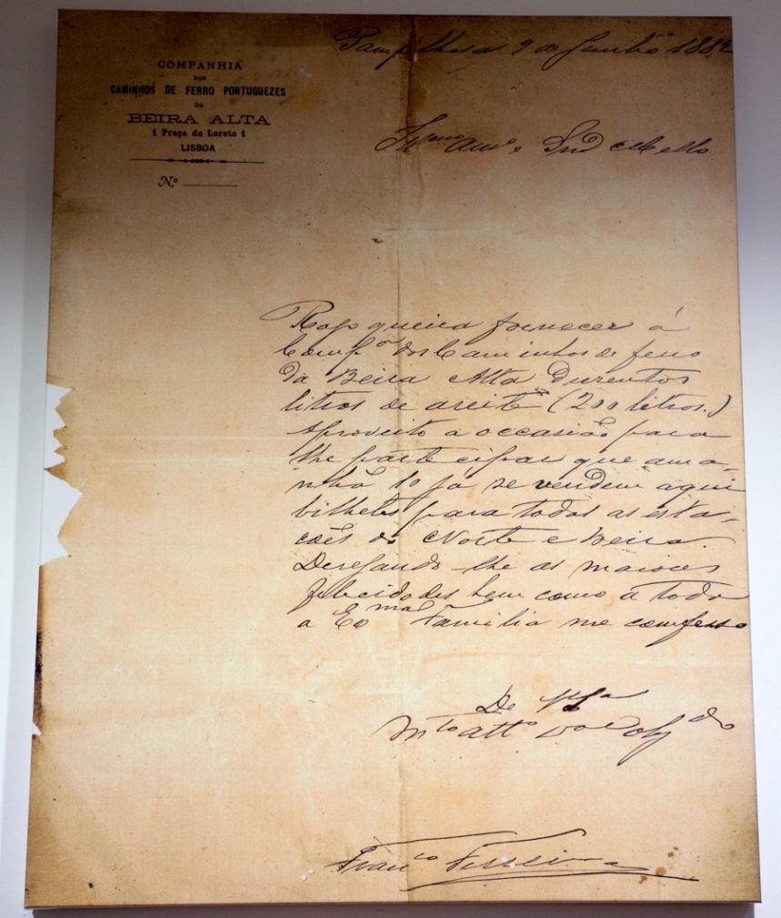 Carta do chefe da estação