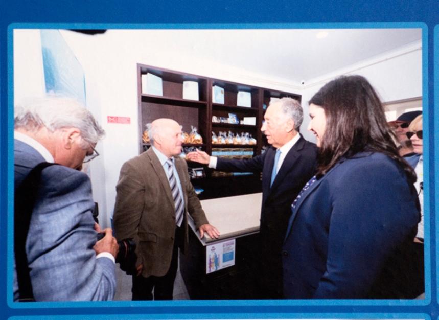 Um dos visitantes foi o Presidente da República