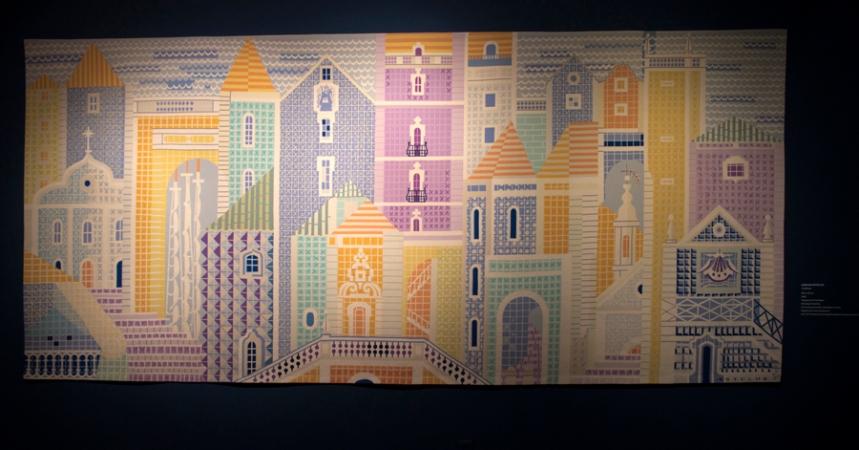 Tapeçaria feita a partir de um desenho de Carlos Botelho