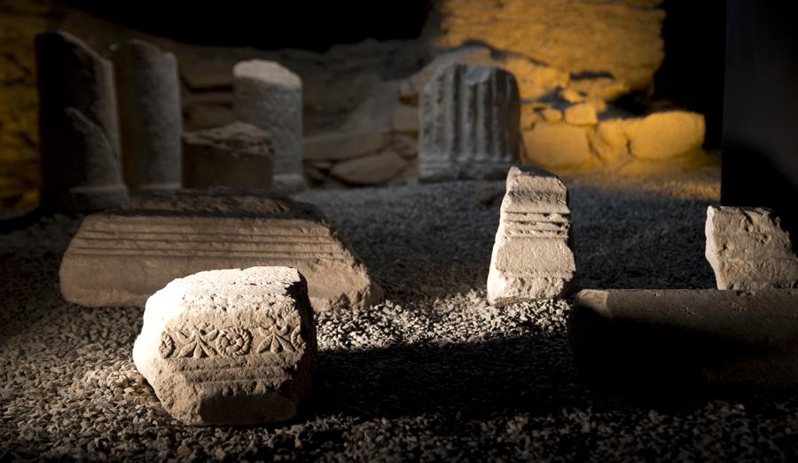 Achados arqueológicos na Casa Romana