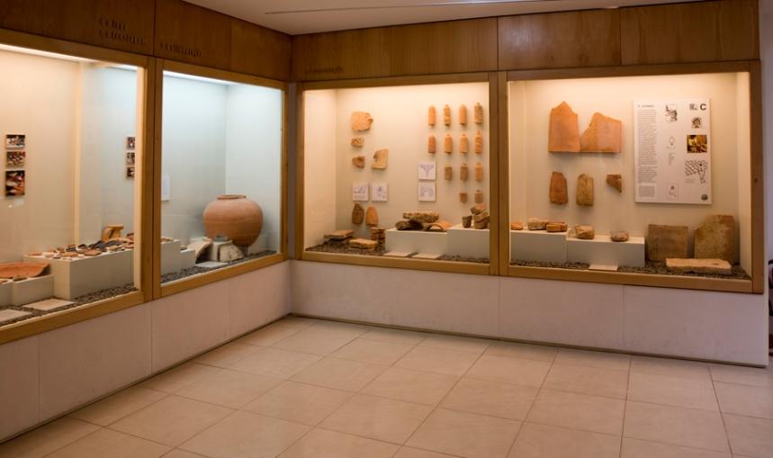 O museu tem várias peças recolhidas nas ruinas romanas