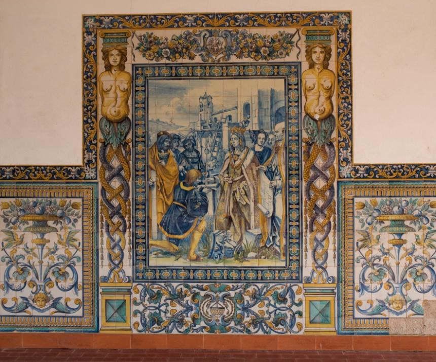 Painel de azulejos na Casa da Criança em Castanheira de Pêra