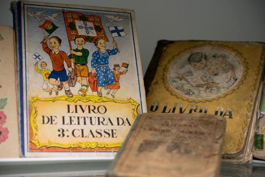 Manuais escolares na Escola Museu Salgueiro Maia