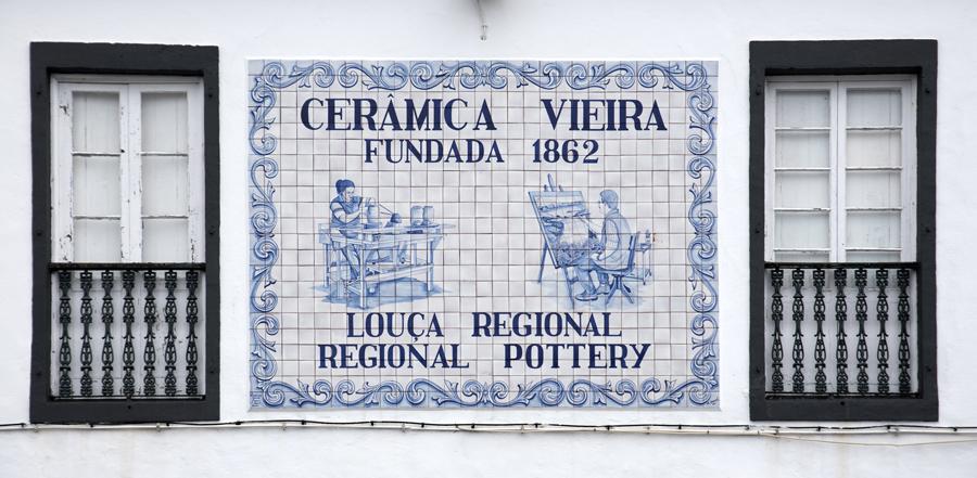 Painel identificativo da Cerâmica