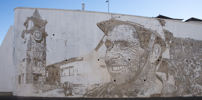 Parte do mural de Vhils