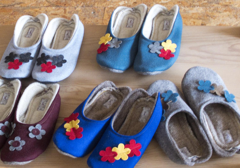 Aplicação do burel em calçado e em várias cores