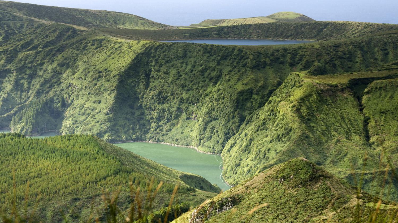 Vista das lagoas a partir do Morro Alto